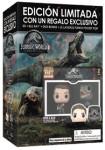 Jurassic World : El Reino Caído (Blu-Ray 3d + Blu-Ray + Dvd + Llaveros Funko)