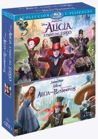 Pack Alicia En El País De Las Maravillas + Alicia A Través Del Espejo (Blu-Ray)