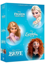 Pack Princesas Azul (Frozen + Enredados + Brave)