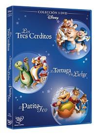 Fábulas Disney : Los 3 Cerditos + El Patito Feo + La Tortuga y la Liebre