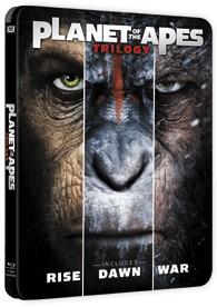 Pack El Planeta De Los Simios - Trilogía (Blu-Ray) (Ed. Metálica)
