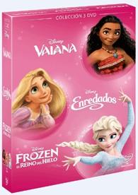 Pack Chicas Vaiana + Enredados + Frozen